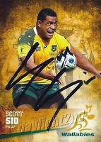 ✺Signed✺ 2016 WALLABIES Rugby Union Card Card SCOTT SIO