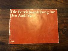 RAR Prospekt brochure Bedienungsanleitung Audi 80 1/80