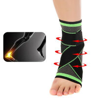 Ankle Support Brace Elastic Compression Sleeve Sport Relief Pain Foot Stabilizer