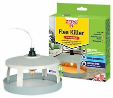 Flea Trap Killer Kit Natural Non Toxic Heat Light Bulb Sticky Pads Plug In