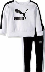 PUMA Little Girls'  2 Pcs Fleece Set (New Born - 4 Years)