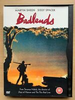 Badlands DVD 1973 Lovers on the Run Drama Classic in Snapper Case
