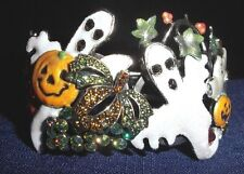 Kirks Folly Pumpkin Patch Party Cuff Bracelet-Halloween Collectible-Size Large