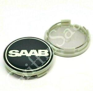 1x Saab Nevs Black Alloy Wheel Centre Hub Cap 62mm 63mm 93 9-3 95 9-5 900 9000