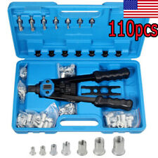 86/110x Rivet Nut Gun Kit Rivnut Setting Tool Nut Setter Tool Hand Blind Riveter