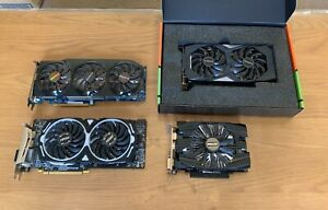 Joblot Faulty Graphics Cards - Nvidia RTX 2060 6GB / AMD RX 580 8GB / GTX 1060