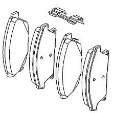 VAUXHALL Pastillas de freno Kit - ORIGINAL - 13412810