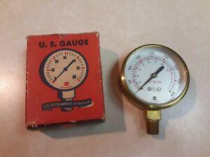 NEW NOS USG U.S. GAUGE PRESSURE GAUGE (0 to 4000PSI) # 19998-1