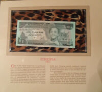 Most Treasured Banknotes Ethiopia 1976 1 Birr P 30b UNC Prefix CD
