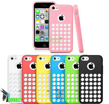 CUSTODIA CASE COVER PER APPLE IPHONE 5C TPU GEL DOT HOLE DESIGN FLESSIBILE