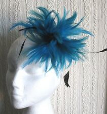 Turquoise s Millinery Plume Broche Clip Hat