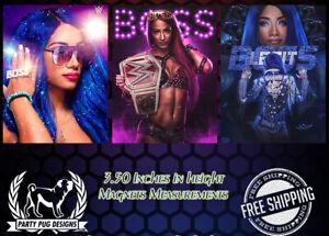 WWE Sasha Banks Magnets! Set Of 3!