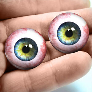 20mm Human Taxidermy Blue Glass Eyeballs Doll Jewelry Halloween Supply Eyes