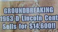 1963 P & 1963 D BU ROLLS LINCOLN CENTS-$3500-$4000-$14500 > (1) ORDER GETS BOTH