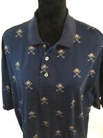 Vintage Polo Golf /Ralph Lauren Mens Size XL 100% Cotton S/S Polo Shirt Blue