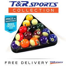 2 Inch Quality Billiards Pool Balls Set + Plastic Triangle Rack Postage