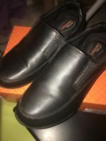 SAFE T STEP Comfort Womens Size 6W Work Shoes Black Oil Slip Resistant