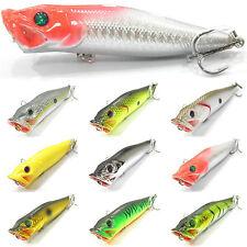 5PCS Fishing Crank Lure Floating Popper Minnow artificial bait hook 9cm/12g