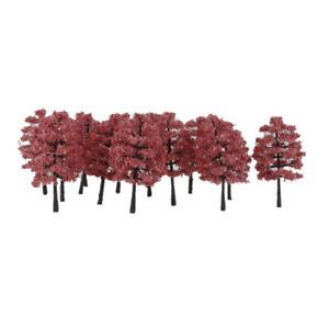 HO TT Scale Trees, Diorama Supplies, Model Train Railways Scenery 20pcs