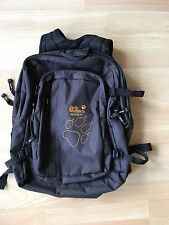 "L@@K JACK WOLFSKIN MENS BLACK ZIP-UP RUCKSACK BAG 15"" BY 19"""