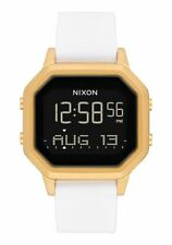 New Nixon Women's Siren SS Digital Watch Gold White