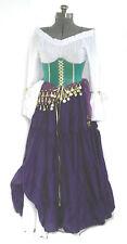 ESMERALDA SKIRT COSTUME HUCHBACK OF NOTRE DAME COSPLAY RENAISSANCE GYPSY PIRATE