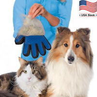 Pet Grooming Glove Brush Dog Cat Hair Fur Remover Gentle Deshedding Massage Tool