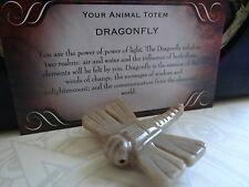 *DRAGONFLY*  Carved Stone Figurine Totem (1) FREE Bonus LOOK Wiccan Pagan Gift