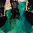 Girls Adult Womens Beauty Mermaid Tail Full Skirt Halloween Cosplay Fancy Dress