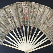 EVENTAIL Peint Ancien XVIIIè À Restaurer Georgian FAN 18thC