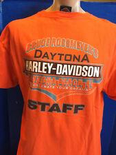 MENS HARLEY DAVIDSON Motorcycle T-SHIRT XL BRUCE ROSSMEYER'S DAYTONA BEACH STAFF