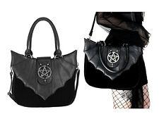 Restyle Flügel Tasche Kunst-Leder Gothic Nugoth Samt Pentagramm Bat Handtasche