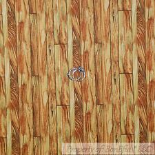 BonEful Fabric Cotton Quilt Brown Tone Wood Grain Barn Farm Pirate Plank L SCRAP