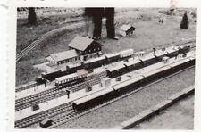 org. photo 6x9 cm modèle Chemin de fer dans le plein air parkanlage (g4088)