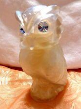 Vintage Avon Snow Owl With Big Blue Rhinestone Eyes 1979