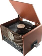 GPO Chesterton Vintage Retro Vinyl Record Player Turntable Radio/CD/USB/Cassette