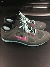 Nike Free TR FIT 4 Women's 9 Running Shoes 629496-004 Gray Teal Purple