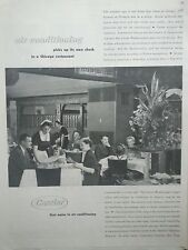 1953 Carrier Air Conditioning Picks Up Own Check Chicago Restaurant Original Ad