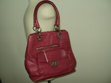 Coach Darken Red Authentic Leather Large Handbag/Purse
