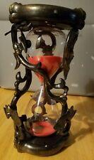 Gothic Hourglass Skulls Sound Flashing Lights Sand Timer Halloween Decor Black