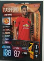 2019/20 Match Attax UEFA - Marcus Rashford Bronze Limited Edition LE9B ManU