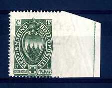 SAN MARINO - 1923 - Pro Croce Rossa Italiana - non dentellato a destra - MNH