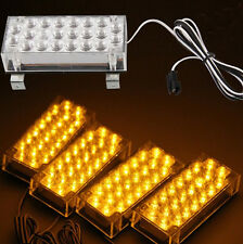 4 x 22 Amber Yellow LED Car Truck Flash Strobe Decoration Fog Emergency Lights