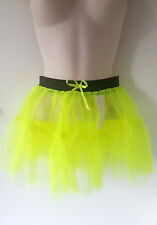 Bright neon yellow double layered net TUTU - To fit size 8 - 14 - Fancy dress