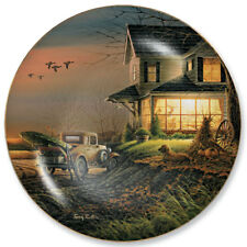 Terry Redlin SPECIAL MEMORIES Collector Plate - Old Truck Cabin Dog Ducks