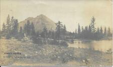 Black Butte Shasta Springs CA real photo vintage postcard postally used in 1908