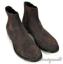 A. TESTONI Brown Suede Leather Mens Shoes Chelsea Ankle Boots  - UK 10 / US 11