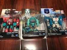 3X NEW Transformers Titans Return DELUXE WAVE 4 SET PERCEPTER + KUP + TOPSPIN