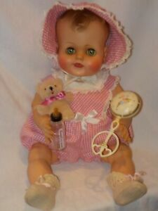 """Large 20"""" Vintage Kathy Molded Hair Baby Doll By Madame Alexander"""