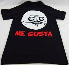 Mens NEW Me Gusta Rage Comic Face Black Logo Graphic T-Shirt Size S Small